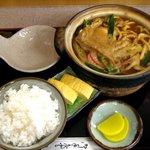 岡崎屋 - 味噌煮込定食(1000円)