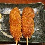 串たつ - ソース串カツ(100円)