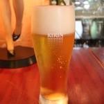 ライス カフェ - 生ビール 500円。