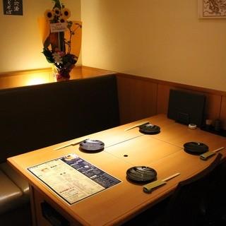 個室や宴会席、カウンター席あり