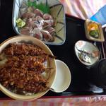 金沢食堂 - 鯵刺セット