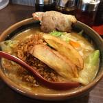 28224154 - 北海道味噌 野菜ラーメン +炙りチャーシュー一枚
