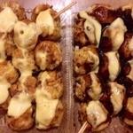 きんぐどう - 料理写真:左・しょうゆマヨネーズ(12個370円) 右・ソースマヨネーズ(12個370円)