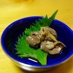 寿司光 - お通し(穴子の肝)