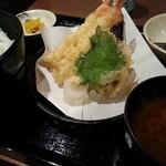 天ぷら食堂 天八 - 大海老天ぷら定食