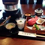 明養軒 - 料理写真:太田麦とろ御膳 2014年6月