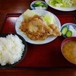 太田食堂 - 豚肉しょうが焼定食
