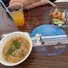 バーン・プータイ - 料理写真:赤丸の中(マンゴージュース400円)