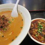 食彩ガーデン - 坦々麺、ミニ麻婆豆腐