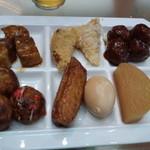 都ホテルニューアルカイック スーパービアガーデン - 豚の角煮、帆立のコニカル、たこ焼き 他