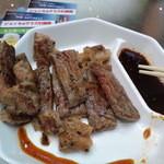 都ホテルニューアルカイック スーパービアガーデン - 牛サーロインの鉄板焼