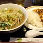 28240509 - タンメン、麻婆豆腐セット
