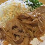スナック プラザ - 料理写真:生姜焼き定食 アップ