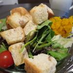 28247865 - 季節の野菜のパンサラダ 830円