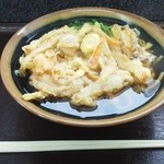 百姓屋 - 料理写真:「大きな野菜のかき揚げそば」450円