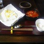Aji家 - レッドカレー(チーズトッピング)