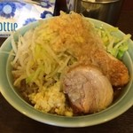 麺や あかつき - あかつき麺 野菜・にんにく・タレ・背アブラ(2014.4)