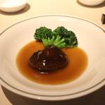 中国飯店 富麗華 - シイタケとブロッコリーのオイスターソース