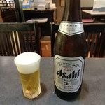 えびらそば - アサヒビール550円(税込)