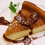 28251649 - バナナのチーズケーキ・キャラメルソース