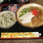みつどての茶屋 - 料理写真:そばジューシーセット700円