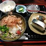 葛の店 まる志ん - 鯖寿し御膳 1300円(要予約)