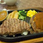 むつの木 - ヒレステーキとハンバーグのセット