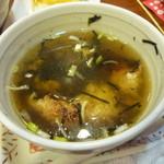 やきとり大吉 - おこげスープ 350円