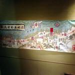 五郎 - 階段には日本酒地図が
