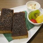 角パン専門店Cafe&マルシエルブ - エスプレッソ 黒糖シナモントースト・セット4