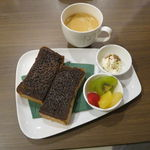 角パン専門店Cafe&マルシエルブ - エスプレッソ 黒糖シナモントースト・セット5