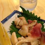 月乃家寿司 - 北海道産のホッキ貝の焼き物