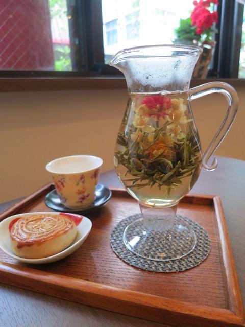 天福茗茶 - 茉莉花が綺麗に開きました。