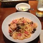 フォレスタ - エビとキノコのトマトソース