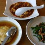 味の來々軒 - かに玉、麻婆豆腐、チンジャオロースー
