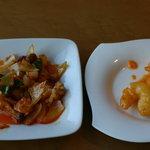 味の來々軒 - イカの豆板醤炒め、海老マヨネーズ、