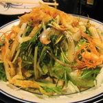 居酒屋 酔い処 - 山の芋と水菜のサラダ