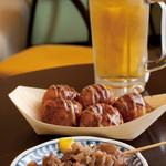 浅草 たこ丸 - ビールセット