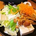 どん亭 - セットの野菜盛り