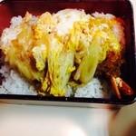 とんかつ さっぽろ 井泉 - 海老重大きな海老2本薄味最後まで美味しい!