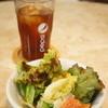 ピッコロボスコ - 料理写真:サニーレタスを中心にしたサラダが出てきます、ドリンクバーより、アイスティーを
