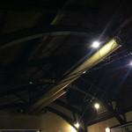 コットンドール - 天井のダクト変わったデザインです。