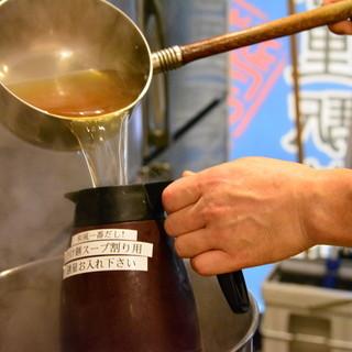 つけ麺を食べた後に!和風一番だしスープをお楽しみ下さい!