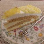 cafe向日葵 - ケーキセットのマロンケーキ