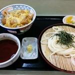 天霧うどん - 揚げどり親子丼・ざるうどんセット 750円♪