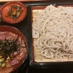 大門五六八そば - まぐろづけ丼セット¥850