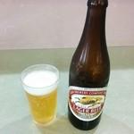 天霧うどん - 瓶ビール(ラガー)520円♪