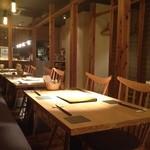 川村料理平 - 普段使いのテーブル席