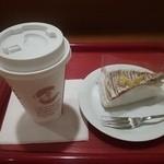 カフェ・ベローチェ - Lなので紙コップ