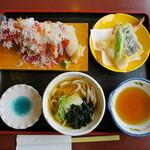 中の濱 - こぼれぶっかけ寿司天ぷらうどんセット